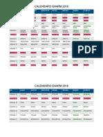 Calendario ENARM 2018