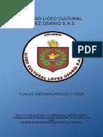 Plan de Área Matemáticas 2018