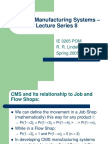 Cellular Manufacturing Systems an Introduction