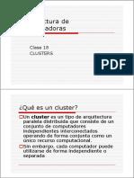 Arqui Compu(Clase 18)Cluster