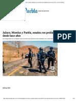 29-04-18 Jalisco, Morelos y Puebla, estados con problemas de seguridad desde hace años
