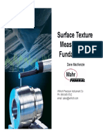 Surface Texture Measurement Fundamentals