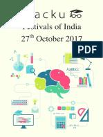 Festivals of India PDF