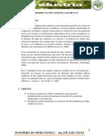 Deshidratacion Osmotica de Manzana , Informe 1
