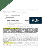 REGIMEN DE ACTIVIDADES LUCRATIVAS. 6 de Los Elementos Leyes Tributarias
