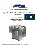 Operation & Maintenance Manual Single Phase & Three Phase Substation Liquid Filled Transformer
