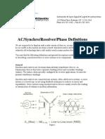AC Synchro Resolver Phase Definitions