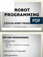 Textual Robot Programming