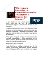 Claves para Potenciar La Comercialización De Tu Empresa o Negocio Por Internet
