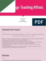 morphology- teaching affixes