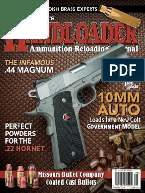 Handloader - June 2018 | Bullet | Cartridge (Firearms)