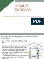 Mechanically Agitated Vessel