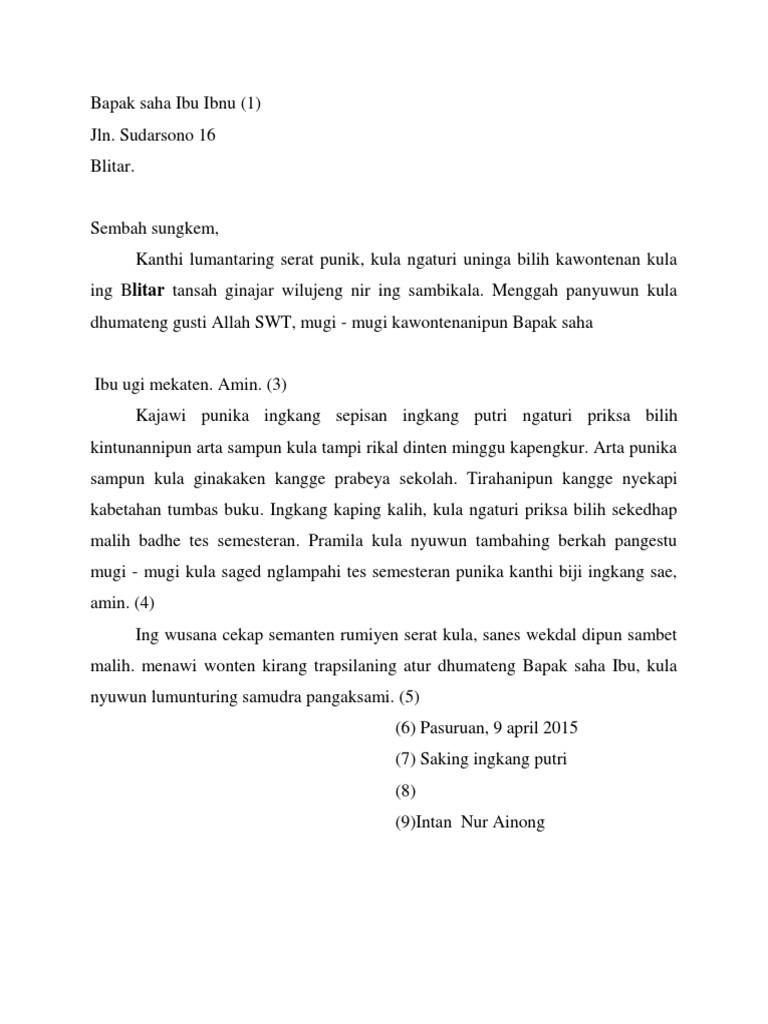 38+ Contoh surat resmi bahasa jawa krama alus terbaru terbaik