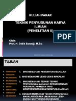 Kul.pakar-penelit- II -Teknik Penyusunan Mkl-karya Ilmiah (2)