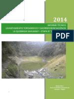 Informe Topografico Quebrada Sahuanay
