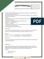 Série d'exercices N°1 - Informatique - Bac Mathématiques (2012-2013) Mr hajji hatem