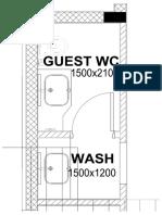 Guest Wash Area Plan