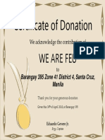 FEU Certificate