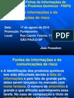 Fontes de Informações e de Comunicações de Risco 2016