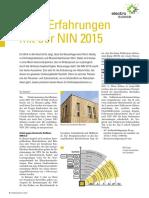 Erste Erfahrungen Mit Der NIN 2015