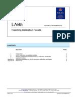 UKAS - Reporting Calibration Results - 2012