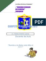 Carpeta Pedagogica 2017 Estela