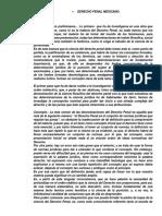 Derecho Penal Mexicano Parte General. Miguel Ángel Pérez Jiménez. - Recuperado
