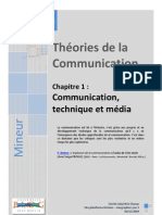 21145534 Theories de La Communication Communication Ch 1 Communication Technique Et Media