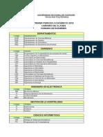 Horario Clases Examenes Primer Periodo 05042018