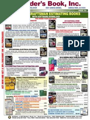 2016 Craftsman Estimating Books: Bookstore • Publisher
