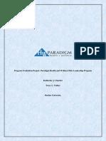 paradigm program evaluation plan final