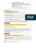 Ppcm Pgcd Cours