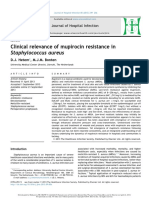 Clinical Relevance of Mupirocin Resistance in Staphylococcus Aureus