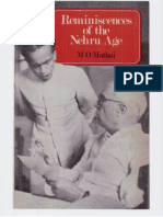 Reminiscences of the Nehru Age by M O Mathai