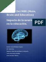 Ensayo Bases Del Aprendizaje y Educación MBE