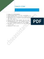 Polynomials Assignment 1