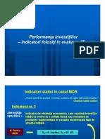 Performanta Investitiilor III (Indicatori) [Compatibility Mode]