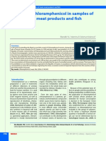 Meso 3 2011 Control of Chloramphenicol in Samples of Meat Meat Products and Fish