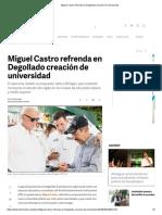 30-04-18 Miguel Castro refrenda en Degollado creación de universidad