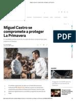 30-04-18 Miguel Castro se compromete a proteger La Primavera