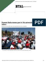 30-04-18 Promete Barba terreno para la 2da universidad pública de Jalisco