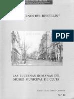1995 Cuadernos Del Rebellin. Las Lucernas Romanas Del Museo Municipal de Ceuta. Dario Bernal Casasola-libre