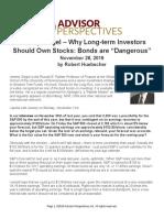 Jeremy Siegel Why Long Term Investors Should Own Stocks Bonds Are Dangerous