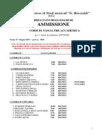 Risultato Idoneita Esami Ammissione Preaccademici Aa 2017 2018
