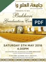 Jamiatul Ilm Wal Huda Blackburn 18th Annual Bukhari Jalsa Poster