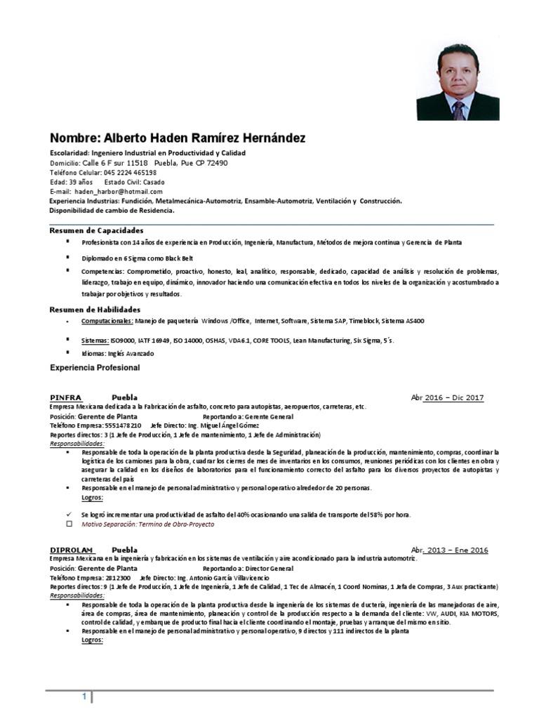 Cv Alberto Haden Ramirez Hernandez