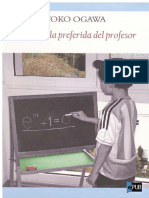 La Formula Preferida Del Profesor Yoko Ogawa