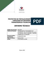 Tecnologías de Tratamiento de Efluentes y de Uso Eficient de Aguas Para PYME de La III Region, 2006