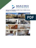 Appartements de location à Saidia