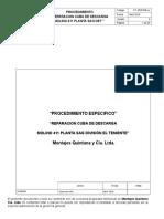 Procedimiento Especifico Reparación Cuba Descarga Molino 411 Planta SAG DET (1)